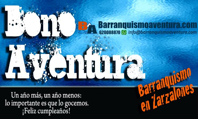 ofertas barranquismo bono regalo aventura