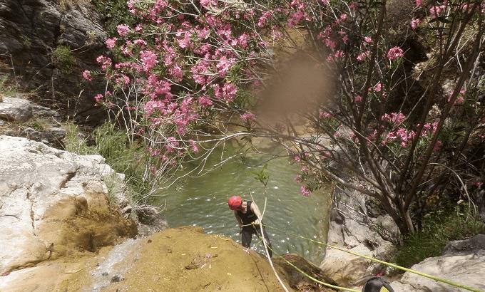 Barranco Majales Juzcar rapel