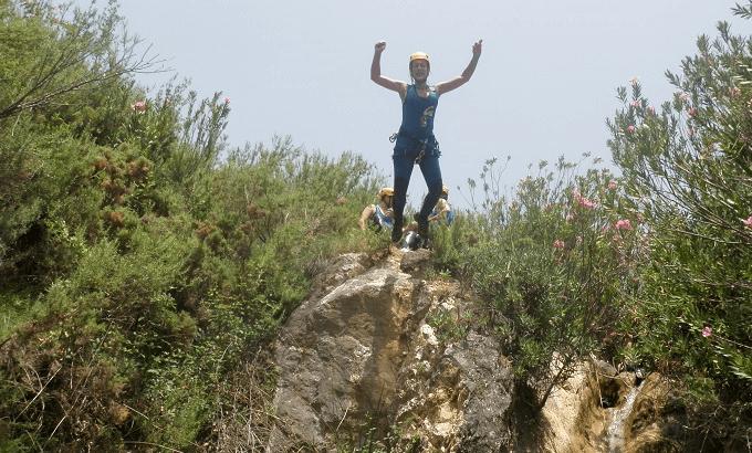 barranco Majales saltando Sierra de Ronda